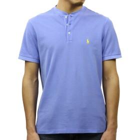 [ポロ ラルフローレン] POLO RALPH LAUREN 正規品 メンズ 半袖ヘンリーTシャツ CUSTOM FIT COTTON MESH HENLEY XL 並行輸入品 (コード:4120520525-5)