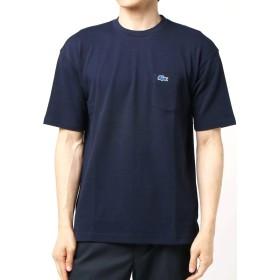 [シップス] LACOSTE ラコステ Tシャツ 半袖 別注 ドロップテイル ビッグ ポケット メンズ 112115024 S ネイビー