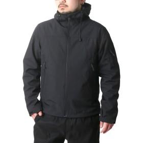 [ファーストダウン] 大きいサイズ メンズ パーカー ジャケット ブラック 3L