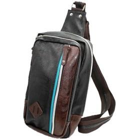 BLIEST ショルダーバッグ メンズ 鞄 ワンショルダー ボディバッグ 斜めがけ バッグ 強化版 (ブラック)
