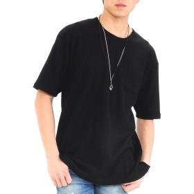 (スペイド) SPADE Tシャツ ビックTシャツ サーマル ルーズフィット メンズ 【e414】 (M, ブラック)