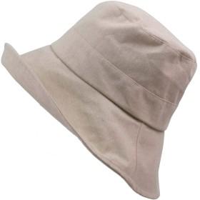 帽子 レディース あごひも付き 広つば  折りたたみ ハット UVカット 99% 自転車 飛ばない 風 飛ばない あご紐 UPF50+ ダウン (ベージュ)