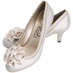 プールヴー 靴 パンプス ハイヒール 結婚式 二次会 レディース ベージュ 23.0cm