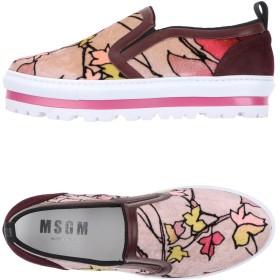 《セール開催中》MSGM レディース スニーカー&テニスシューズ(ローカット) ピンク 35 紡績繊維 / 革
