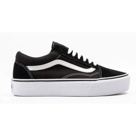 [バンズ] Vans レディース Old Skool Platform スニーカー Black/White Mens 7 Womens 8.5(25cm) - Medium [並行輸入品]