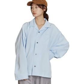 (アンリラクシング) Unrelaxing ベーシックオープンカラー長袖シャツ アロハロングスリーブシャツ UR-559W FREE サックスブルー UR-559W_BL04F001