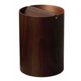 SAITO WOOD ごみ箱 ダストボックス 回転蓋 9L ウォールナット[WN952A](ブラウン)