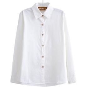 (ボラ-キキ) Bole-kk ブラウス 半袖 レディース シャツ オフィス ワイシャツ 長袖 きれいめ 襟付き 事務服 お出かけ 通勤 通学 白