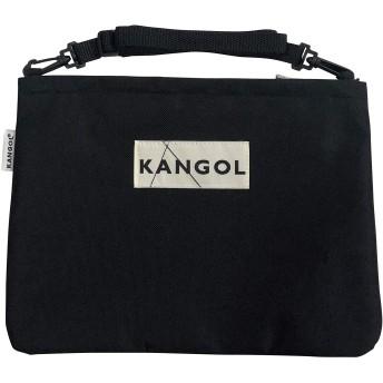 (KANGOL)カンゴール サコッシュ ショルダーバッグ レディース 斜めかけ (F, BLK)