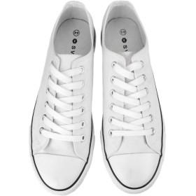 [シュベック] レースアップシューズ スニーカー ハイカットスニーカー オックスフォードシューズ サイドジップ バブーシュ かかと踏める 2WAY メンズ レディース 春 靴 [ZNX107C ] ホワイト 白 44(27.0cm)