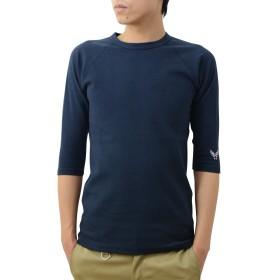(ジーンズバグ)JEANSBUG オリジナル スパン フライス 7分袖 クルーネック Tシャツ メンズ レディース 無地 SP7T M エアフォース(ネイビー)