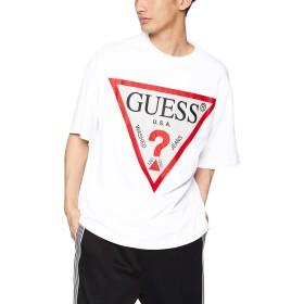 [ウィゴー] WEGO GUESS ゲス [別注] プリント ビッグ T シャツ M ホワイト メンズ