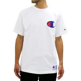 [チャンピオン] Tシャツ ビッグ ブランド ロゴ マーク 半袖 メンズ (4L, ホワイト)
