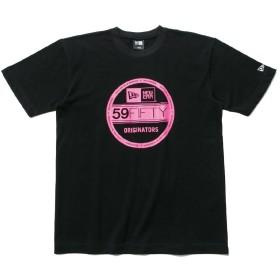 (ニューエラ) NEW ERA Tシャツ ベーシック バイザーステッカー ブラック/ピンク S