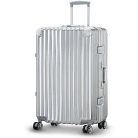 LUSHBERRY スーツケース 大型 人気 レトロ 機内持込 キャリーケース 静音 TSAロック ビジネス旅行用品 出張 超軽量 大容量 8輪 アルミフレーム(Lサイズ 中型61L 4.2KG 5~7泊,ブラック))