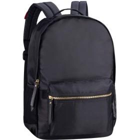 リュックサック レディース メンズ カジュアルバッグ 人気 軽量リュック デイパック おしゃれ 通勤 通学 ビジネス など兼用 (ブラック-2)
