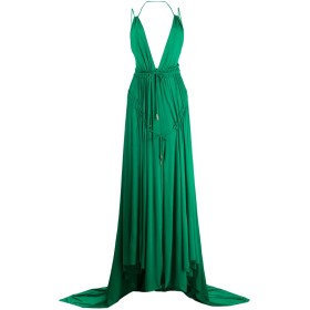 Dsquared2 Light Crepe ロングドレス - グリーン