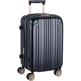[アウトレット品]【レジェンドウォーカー】LEGEND WALKER スーツケース ファスナータイプ ダブルキャスター 鏡面ボディ TSAロック 軽量 機内持込サイズ B-5122-48 ネイビー
