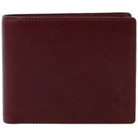 [名入れ可] ポロ ラルフローレン Polo Ralph Lauren 正規品 本革 二つ折り 財布 P211RG (名入れあり, ボルドー)