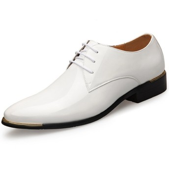 [フォクスセンス] ビジネスシューズ 革靴 紳士靴 牛皮靴 スリッポン ポインテッドトゥ カジュアル メンズ 本革 通気性抜群 軽量 耐摩耗 ホワイト 28.0cm wk1875