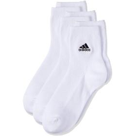[アディダス] リブ刺繍 ソックス Adidas(アディダス) 3足組 123-19V1 ボーイズ ホワイト 日本 19(19-21cm) (FREE サイズ)