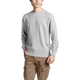 [チャンピオン] ワンポイントロゴ クルーネック スウェットシャツ ベーシック C3-C019 メンズ オックスフォードグレー 日本 M (日本サイズM相当)