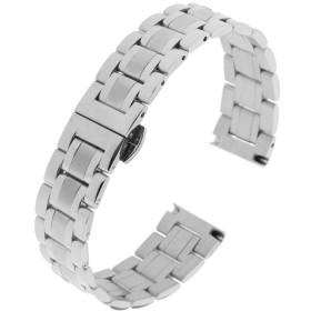 Fenteer ステンレス ストラップ 交換用 時計バンド メタルリスト バンド 多種類選べ  - シルバー16mm