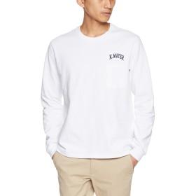 (クリフメイヤー) KRIFF MAYER TOUGH TEE 胸刺繍ロンT(長袖Tシャツ ロゴ刺繍 ヘビーウェイト ポケTEE クルーネック) 1745100 M オフホワイト