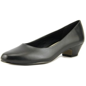 Easy Street Womens halo Closed Toe Classic Pumps, Black, Size 9
