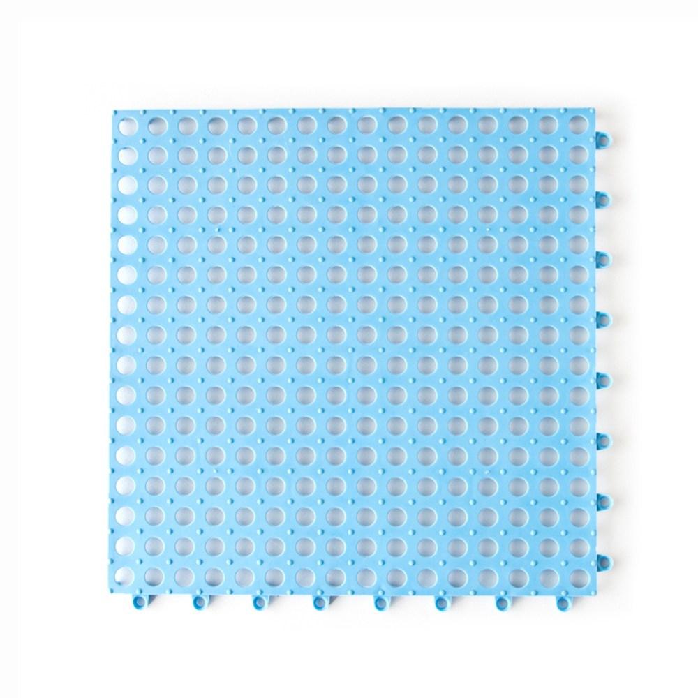 無毒橡膠浴室拼接地墊4入組-水藍