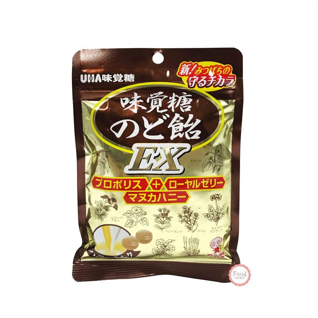 日本 UHA 味覺糖 EX喉糖 90公克 日本進口 零食 糖果 蜂蜜 蜂王漿 蜂膠