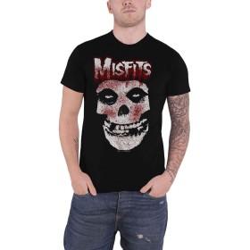 Misfits T Shirt Jurek Blood Drip Skull Band Logo 新しい 公式 メンズ Size XL