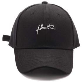 Alaix レディース 帽子 キャップ uv 紫外線対策 フリーサイズ かわいい刺繍 コットン100% 春夏秋冬 オールシーズン ブラック