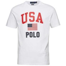 (ラルフ ローレン)RALPH LAULEN LOGO CTTN-JERSEY TEE WHITE ロゴ Tシャツ ホワイト 17742 (M) [並行輸入品]