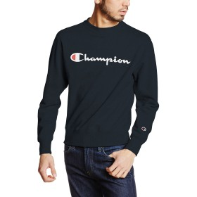 [チャンピオン] スクリプトロゴクルーネックスウェットシャツ ベーシック C3-H004 メンズ ネイビー 日本 XS (日本サイズXS相当)