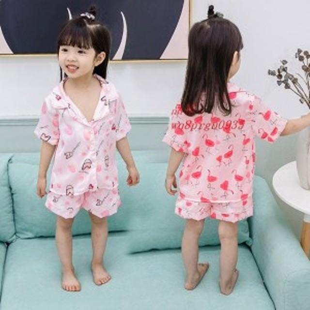 子供パジャマ ベビー 女の子 快適 80 半袖パジャマ 90 パジャマ エミュレーション糸 パジャマ 子供用 キッズ 上下セット 可愛い 100 110