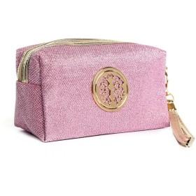 DRASAWEE(JP)化粧ポーチ バニティ メイクポーチ コスメバッグ 化粧道具 小物入れ 日常用 旅行 収納ポーチ おしゃれ ピンク