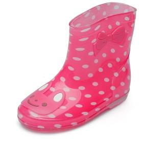 Chiximaxu 子供靴 雨靴 レインブーツ キッズ ブーツ 可愛い 学生 女の子 男の子 長靴 スイカレッド 19CM