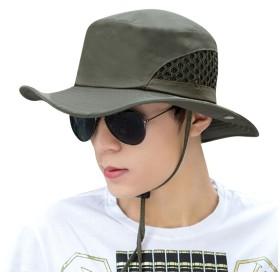 メンズ 帽子 uvカット ハット 春夏 登山帽子 日よけ帽子 薄地 UV帽子 つば広帽子 ゴルフ サンバイザー 自転車 中折ハット 日焼け帽子 大きいサイズ 通気性 日除け帽子 速乾性 折り曲げて 持ち運び スポーツ アウトドア ジョギング