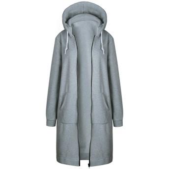 WSLCN レディース パーカー ロング丈 春 秋 コート ジャケット ジャンパー センス S-5XL  多色展開 着心地 人気