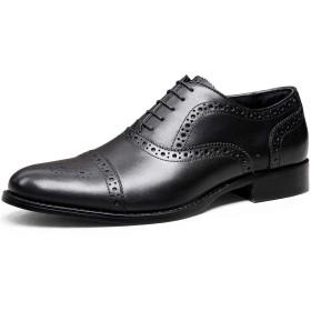 [デザート] フォクスセンス Foxsense ビジネスシューズ 紳士靴 内羽根 ストレートチップ ウイングチップ 革靴 本革 ブラック 25.0CM 6278-22