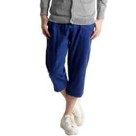 ツイル クロップド チノパン 短パン 春 夏 秋 メンズ パンツ 短パン mens XL サイズ ロイヤル ブルー