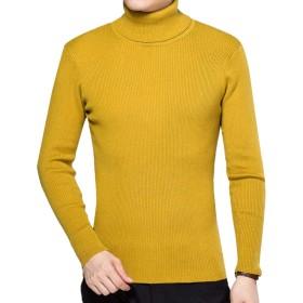 YFFUSHI メンズ ニット セーター ハイネック スリム 全6色 S-3L 長袖 半袖 無地 ニットセーター カジュアル ファッション シンプル お洒落