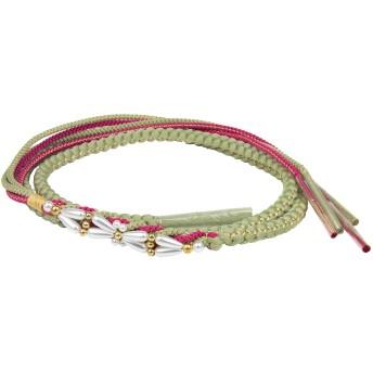(キョウエツ)KYOETSU 成人式 結婚式 正絹 振袖 帯締め パール飾り 手組み (15.ヒワ)