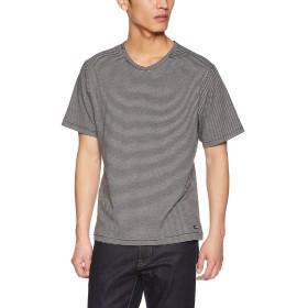 (マックレガー) McGREGOR スムースボーダーTシャツ ブラック LLサイズ