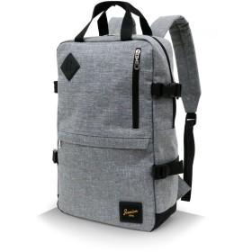 [ジーニズム エドウィン] リュック 多機能 ポケット PC収納 ボックス型 スクエア ミディアムグレー Free