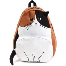 (フルーム)Fleume かわいいネコ型かばん リュックサック デイパック 耳 しっぽ付き (ミケ)