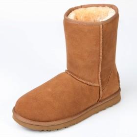 [オスランド] レディースブーツ クラシック スノーブーツ 牛革 ブーツ ミドルブーツ CHESTNUT 22.5cm