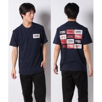 トミーヒルフィガー リピートロゴTシャツ メンズ ネイビー M 【TOMMY HILFIGER】