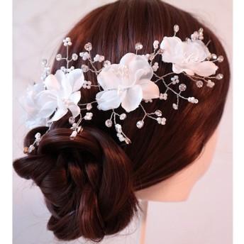 Happy Happy wedding ヘッドドレス (結婚 結婚式 前撮り ウェディング プリンセス お花 お姫様